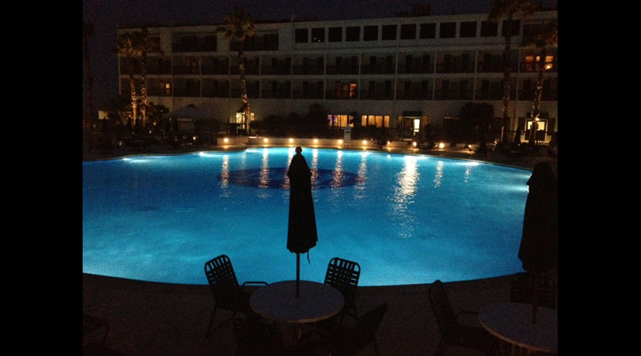 Port Royal Resort pool at night