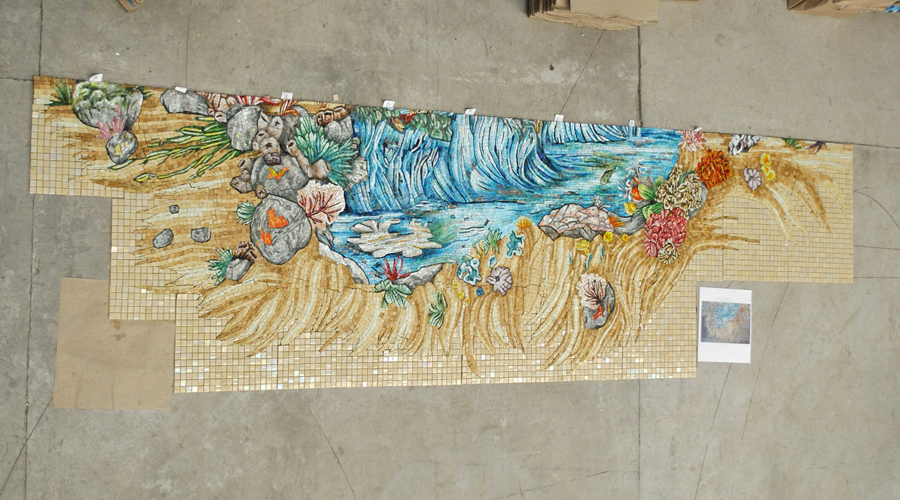 Pool Deep End Glass Mosaics