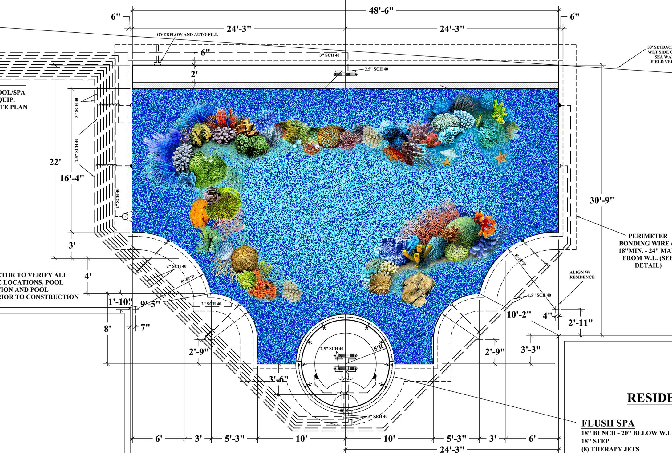 Custom Swimming Pool Rendering