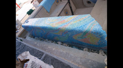Installation of Glass Mosaics, Spa