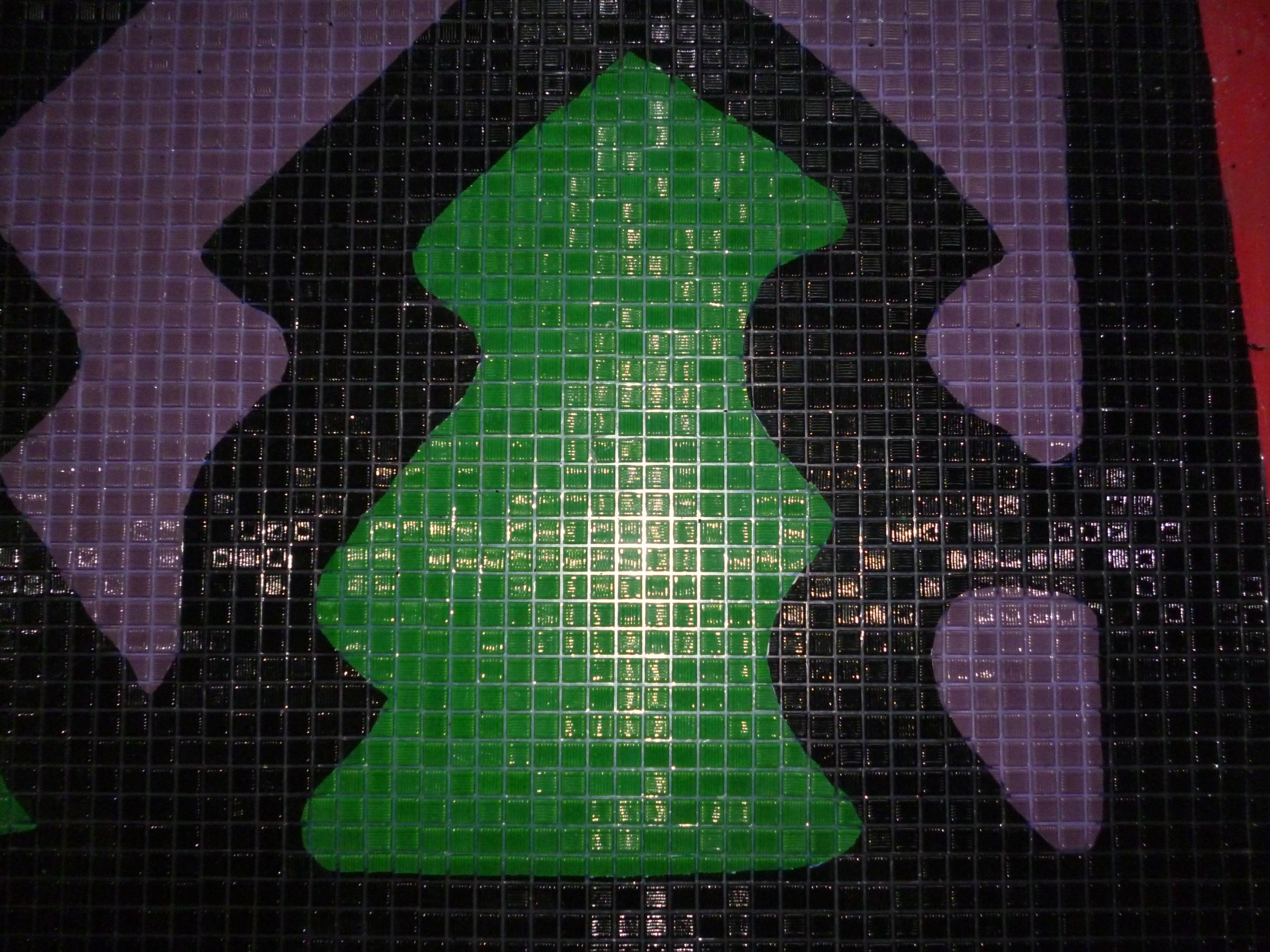 Grand Timber Lodge mosaic closup