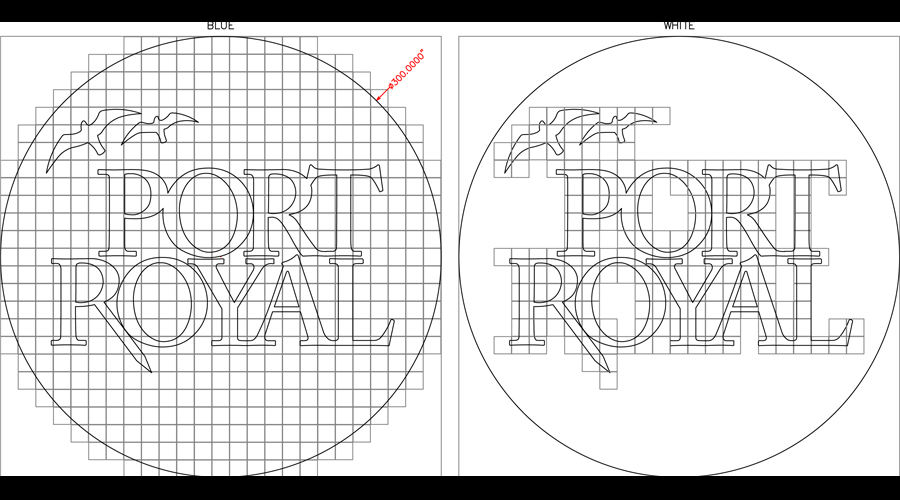 Port Royal Logo layout