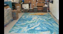 Lofting the Pool Floor Glass Mosaics