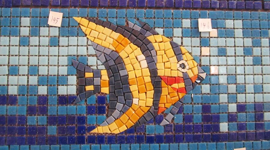 Handcut Angelfish 2 Glass Mosaic