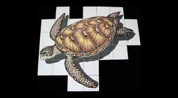 Kiln fired Sea Turtle