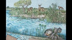 Swimming Pool Nature Wall Mosaics
