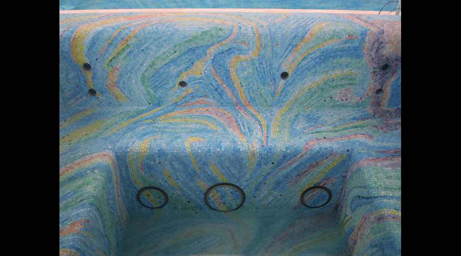 Spa Interior Glass Mosaics