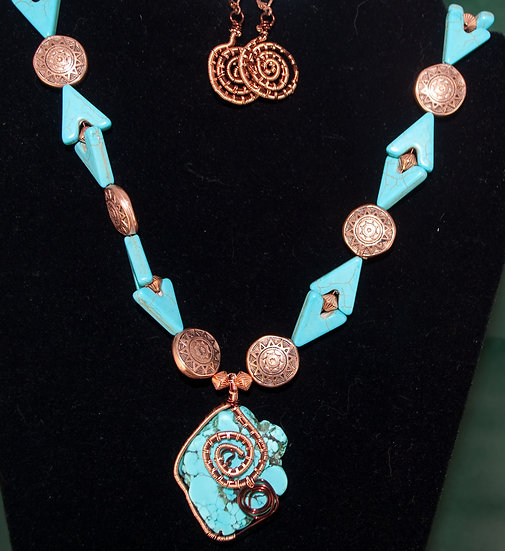 Spiral Wrapped Turquoise