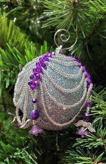 Purple & Silver RAW Flower Angel