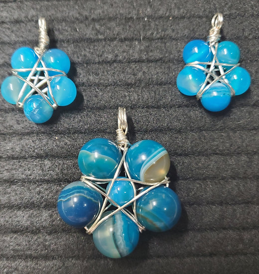 Blue Agate Starflower (SET)