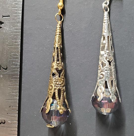 Crystal Cones - Iridescent Purple