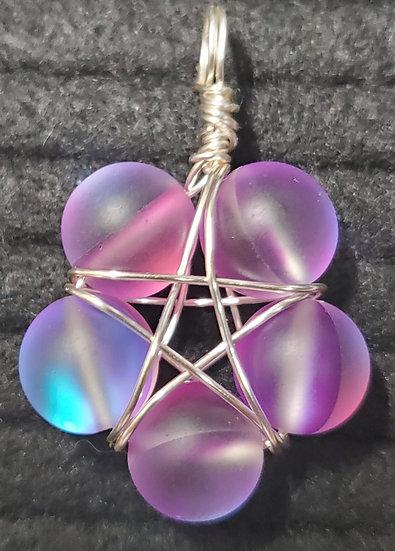 Purple Synthetic Opalite Starflower