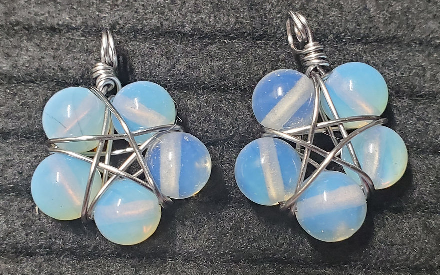 Opalite (synthetic) Starflower Earrings