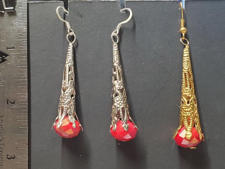Crystal Cones - Bright Red