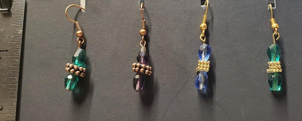 Crystal Biscuit Earrings