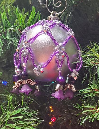Purple & Silver Flower Angel