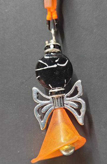 Black & Orange Angel Spiral