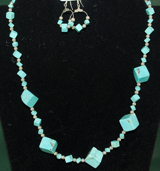 Graduated Turquoise Cubes