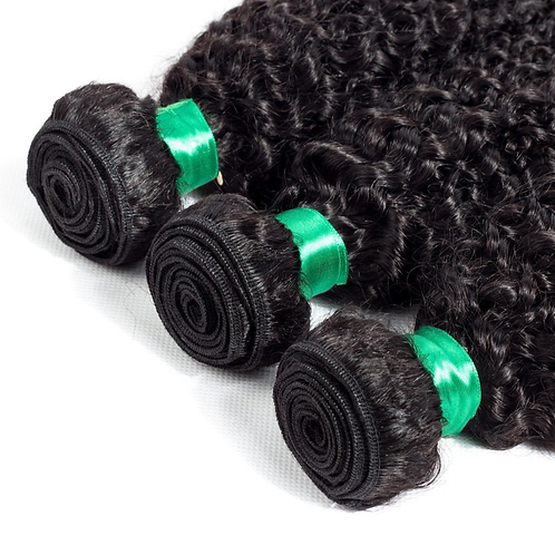 Natural Black Unprocessed Curly Hair Bundles (16'-28')