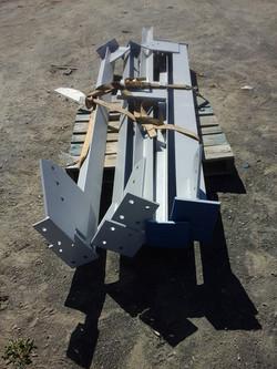 Structure pièces acier
