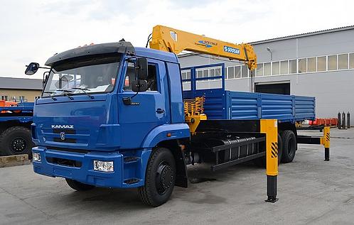КамАЗ 65117 с КМУ Soosan SCS746L
