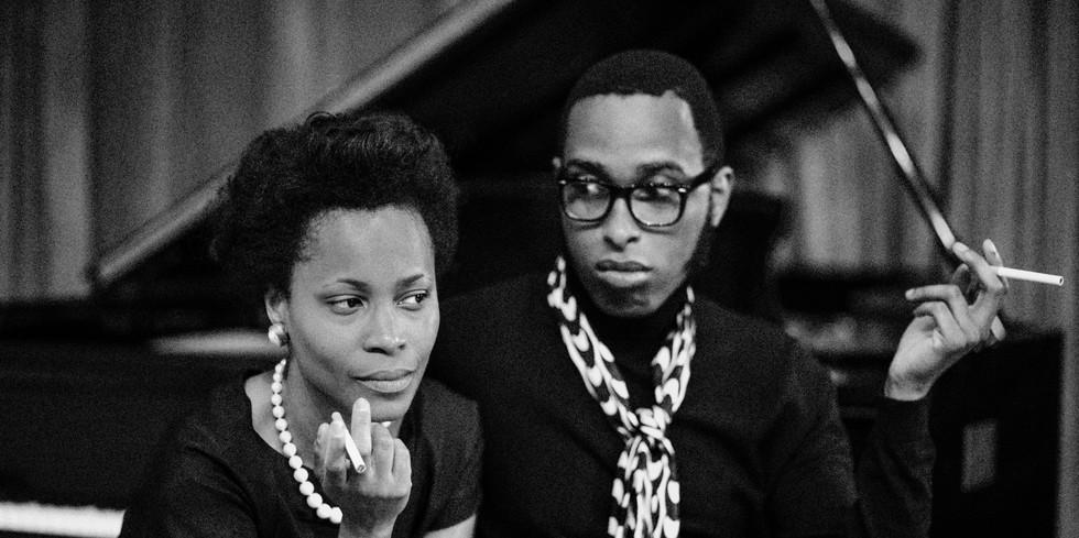 Christopher Augustin as James Baldwin & Valisia LeKae as Lorraine Hansberry  Photo by Jon Demske