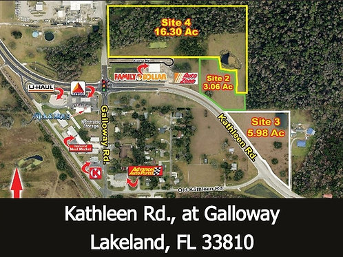 3.06 +/- acres zoned Commercial/Retail/Storage