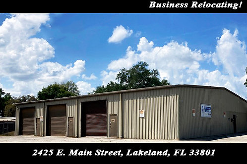 Business Relocating - Here is a Great Opportunity!