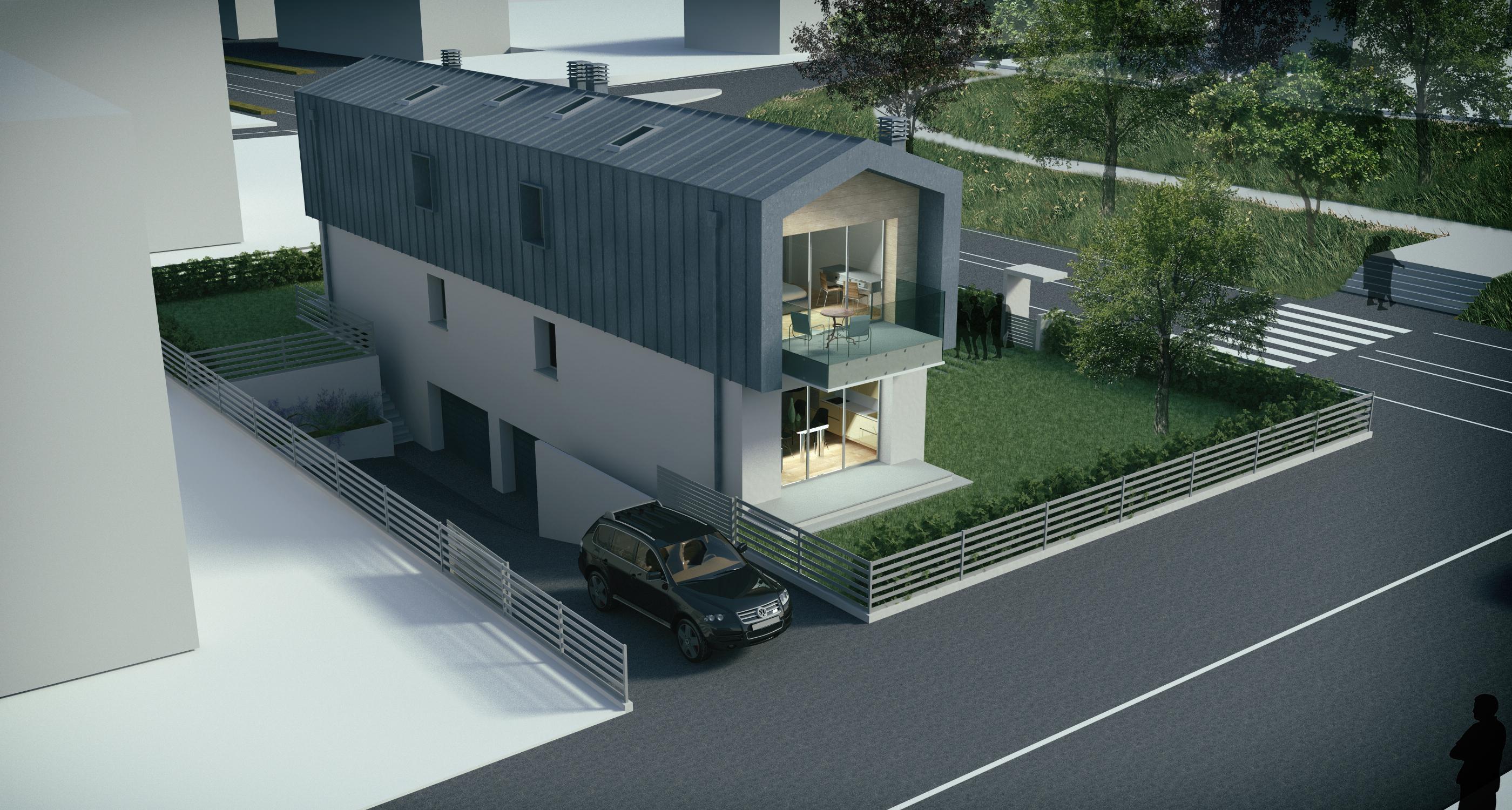 Nuovo edificio mono-bi famigliare