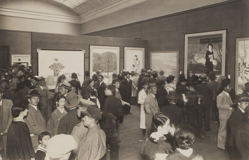 The annual Teiten exhibition, which did not feature kogei until 1927. ca. 1933
