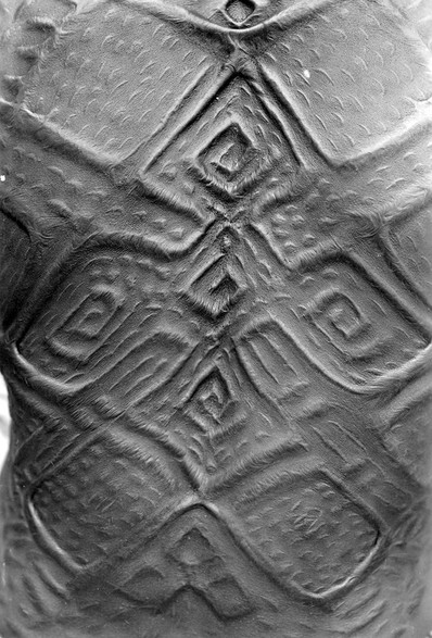 Back scarification of a woman in Mayombe, Bas-Congo