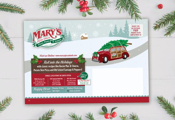 Mary's Holiday Mailer Back