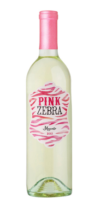 Pink Zebra Wine Label