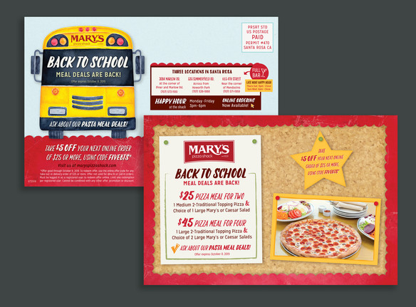 Mary's Back to School Mailer