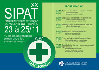 XX SIPAT - Semana Interna de Prevenção de Acidente de Trabalho