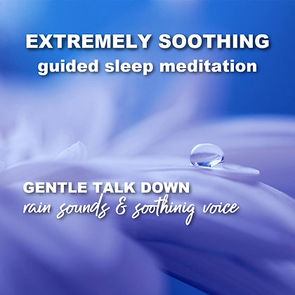 Soothing Guided Meditation & Hour Long Sleep Talk Down with Rain Sounds MP3