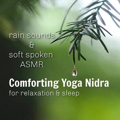Softly Spoken Comforting Yoga Nidra with Rain Sounds MP3