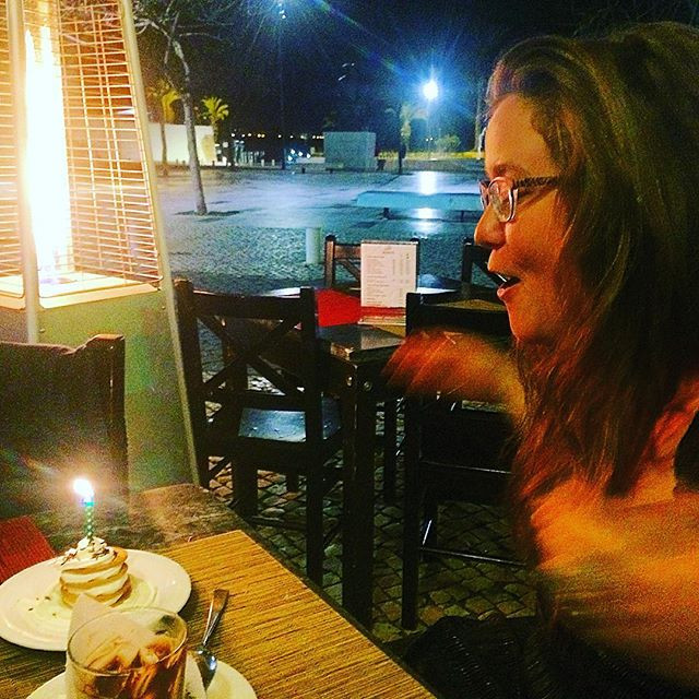 Blowing a candle out on my birthday