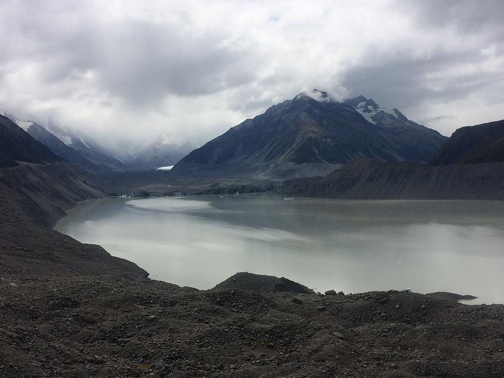 Tasman Glacier in Mount Cook National Park