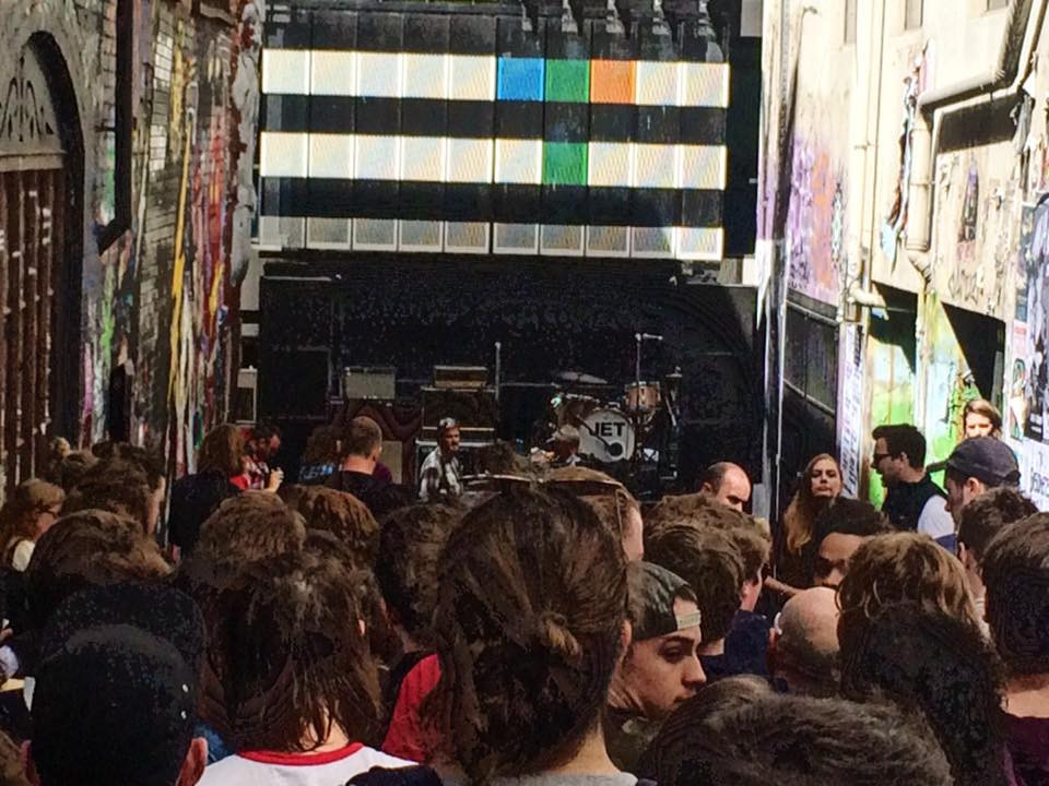 Jet's stage on AC/DC Laneway in Melbourne