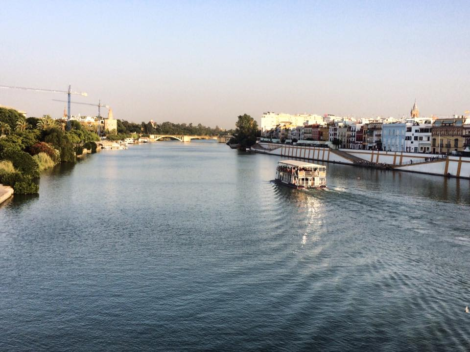 Guadalquivir River in Seville, Spain