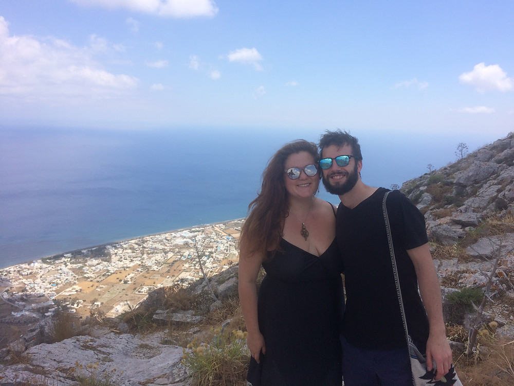 At the highest point of Santorini, Greece