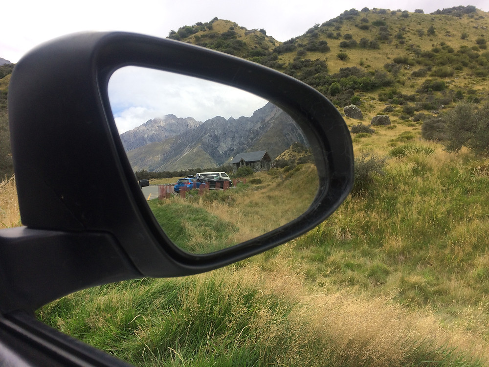View out the window on a New Zealand road-trip