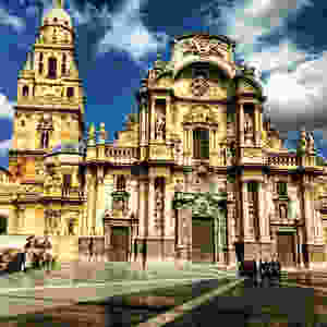The cathedral in Murcia, Spain