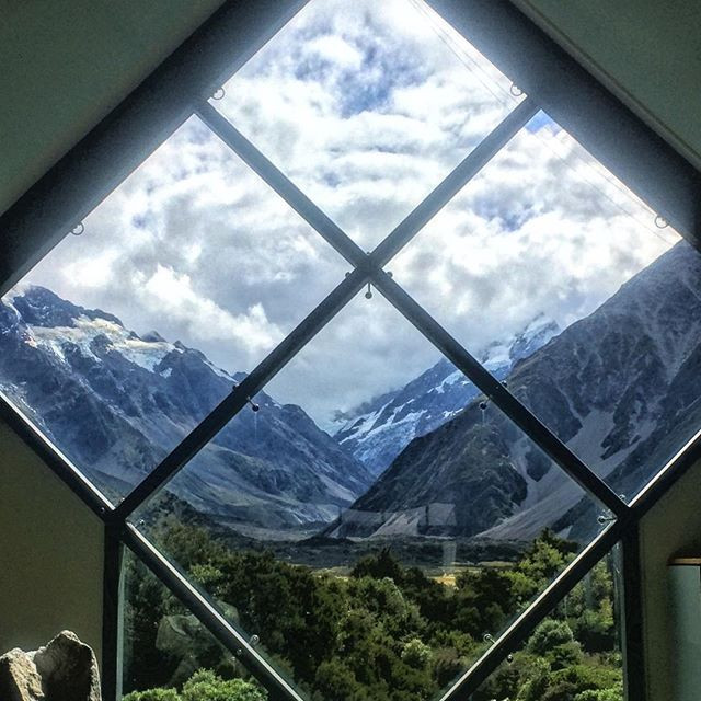 View of Mount Cook from the visitor's center