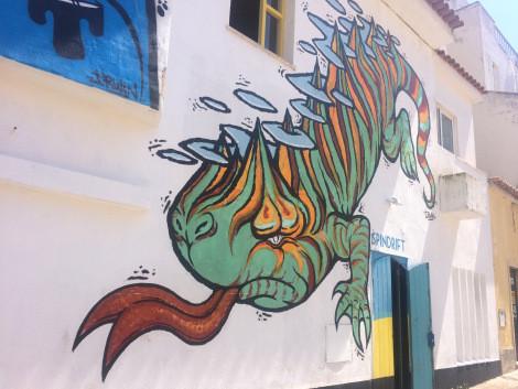 Mural by street artist Irwin