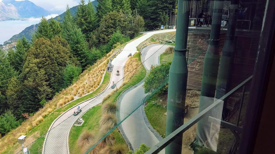 The luge course at Skyline Queenstown