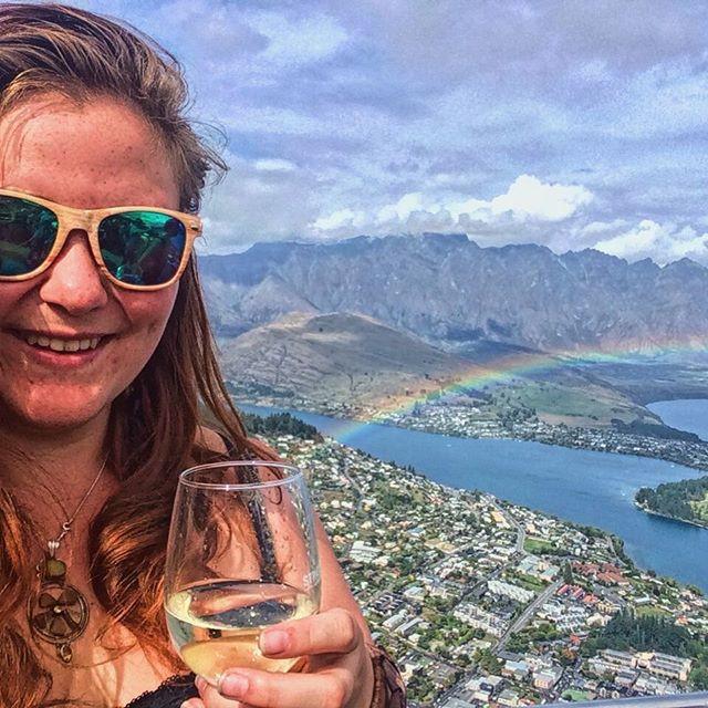 Rainbow over Queenstown, New Zealand
