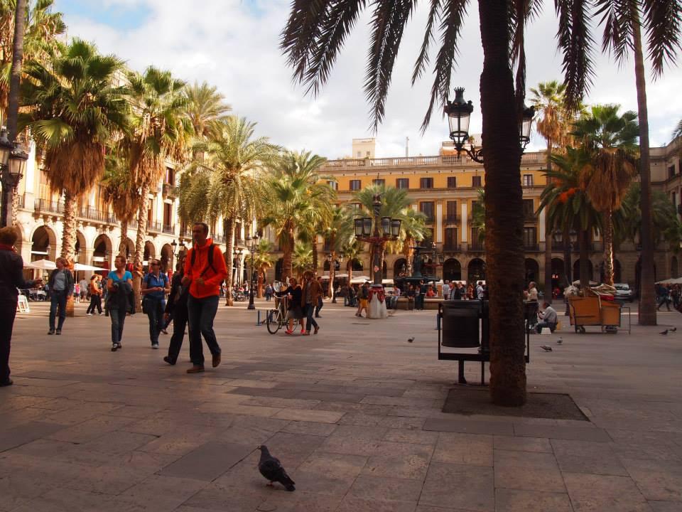 Plaza Real in Barcelona Spain