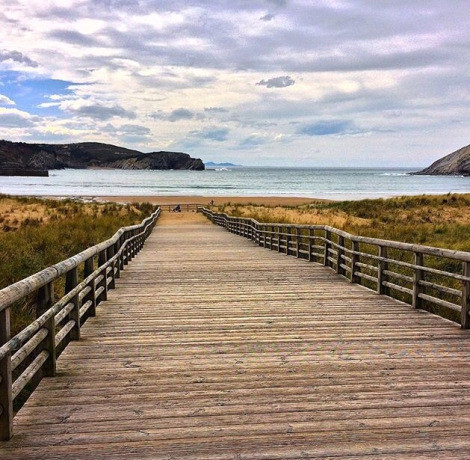 A perfect beach for wasting time in the Basque Country in northern Spain